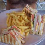 Club Sandwich! Gorgeous, just like all the food served here.
