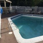 low water in locked pool in July