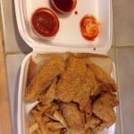 Combination dinner from A & J Fish and Chicken - Minneapolis