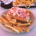 The lobster roll is huge
