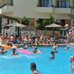 Busy swimming pool