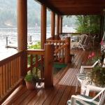 Front porch overlooking water