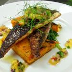 Caribbean Style Sea Bream with Mango & Chilli Salsa