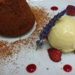 Chocolate Fondant with Lavender Ice Cream