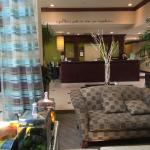 Part of the lobby at Hilton Garden Inn.