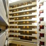 Interior layout of hotel floors