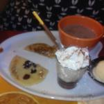 Dessert en cours de dégustation