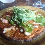 Whole-wheat lobster pizza