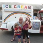 The local ice cream truck stopped by!
