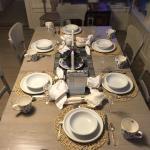 The lovely breakfast table.