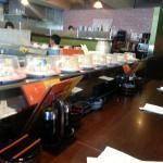 Conveyor Belt with Yummy Sushi