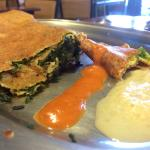 Spinach Dosa Up Close: Delicious and full of vibrant flavor