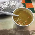 The Split Pea Soup is awesome!! Thick and full of flavor.
