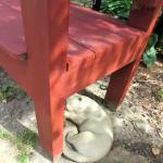 garden view under bench