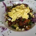 Veggie Hash with Scrambled Eggs