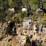 Hideaway cabins with abseiling area