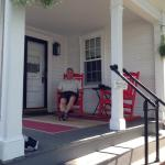 The porch outside Joshua's Room - loved the great big rocking chairs!
