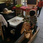 Play area in dining room