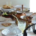 All the Main Course - keema naan, Saag Gosht, Tandoori prawn masala