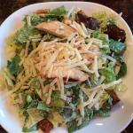 Delicious caesar salad, full size with chicken.