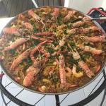 Paella pronta - Simplesmente linda e deliciosa...