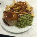 The jewel in the Crown at The Palma. ..steak pudding,chips,peas and gravy.....awesome feast!