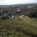 View of village from corfe castle