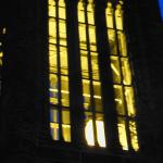 Altgeld Chimes at night.
