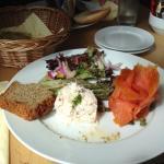 salmone e granchio