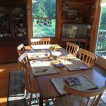Sunny breakfast table