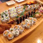 A boatload of tasty sushi