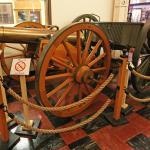 An old artillery piece.