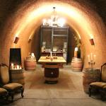 Library wine Tasting Room in Cave