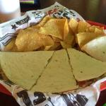 Carnitas and chips.