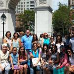 Our group at Washington Square Park