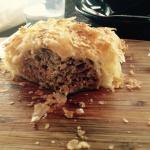 Lamb Pie , cut open, very good and flakey