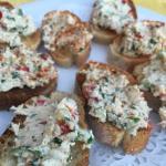 Tartine de fromage frais à la sardine