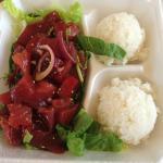 Shoyu with sesame oil flavored Ahi Poke bowl.... from Like Poke?
