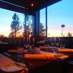 Restaurant and sunset
