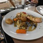 saumon poëlé petits légumes