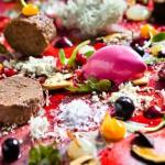 Colourful food in Autumn colours