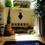 Plunge pool and seating area