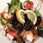 Burren Smoked salmon & Buffalo Ricotta salad
