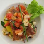 poisson des roches et légumes frais