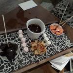Chocolate Fondue Sharing Platter