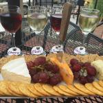 cheese plate, wine sampler - YUM!