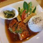 salmon with rice lunch set
