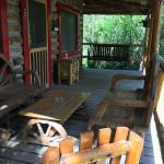 Porch on cabin #5 at Drowsy Water Ranch.
