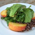 Quinoa and stone fruit salad. Fresh apricots and peaches. My favorite!