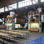 Blick in die frühere Umschlaghalle